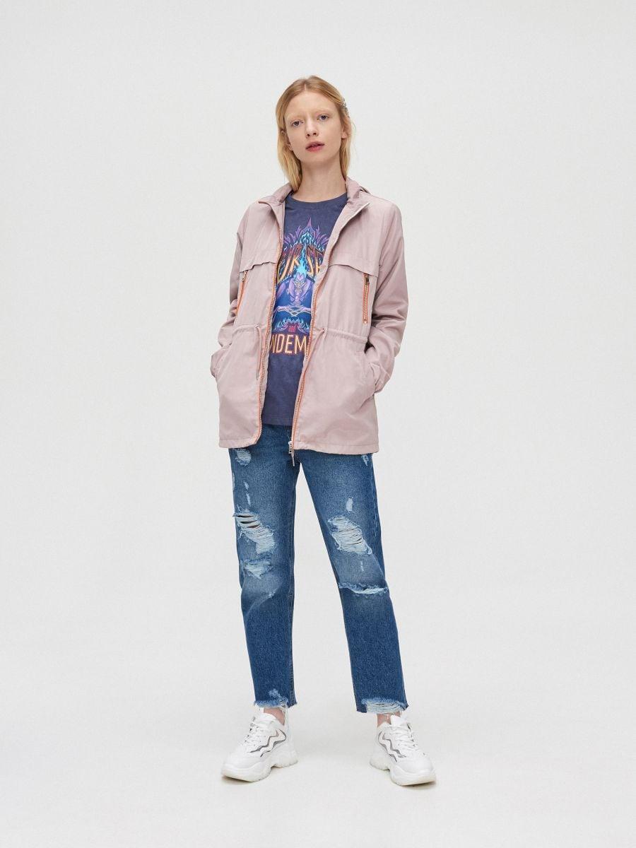 Легкая куртка-дождевик - розовый - XL598-39X - Cropp - 4