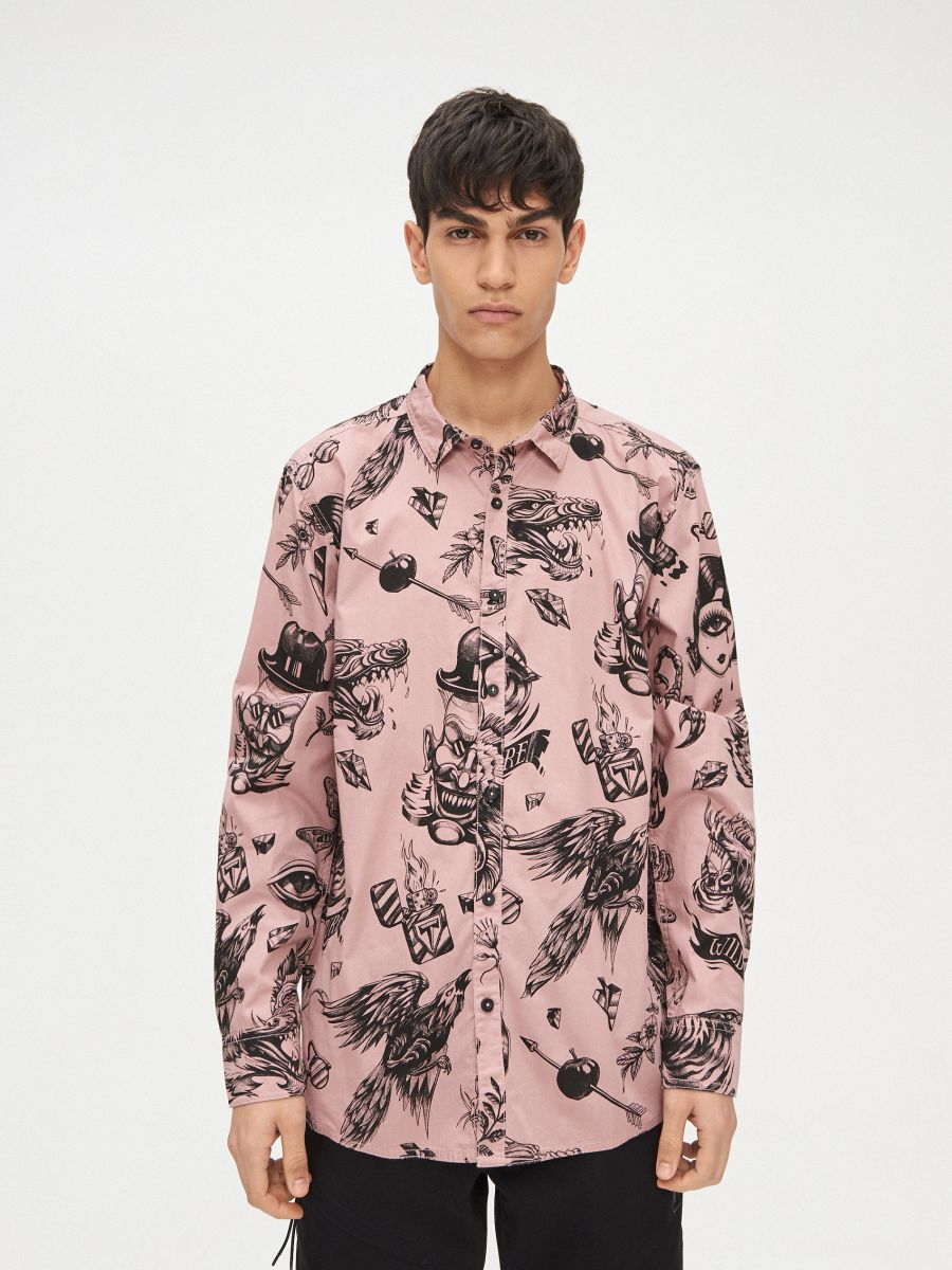 Рубашка Ink Ready - розовый - XR123-39X - Cropp - 3