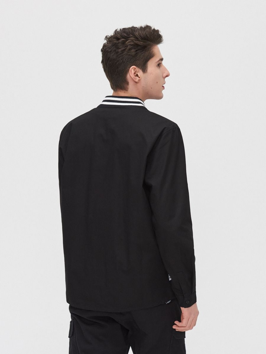 Рубашка с воротником, оформленным резинкой - черный - XR133-99X - Cropp - 4