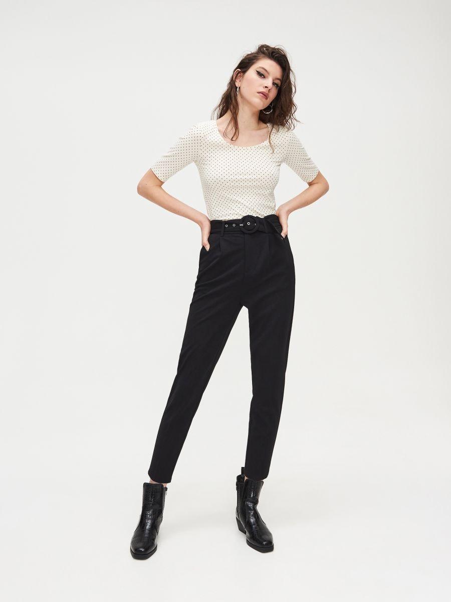 Блуза Basic - кремовый - XV993-02X - Cropp - 1