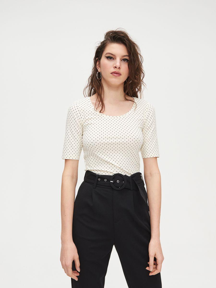 Блуза Basic - кремовый - XV993-02X - Cropp - 3