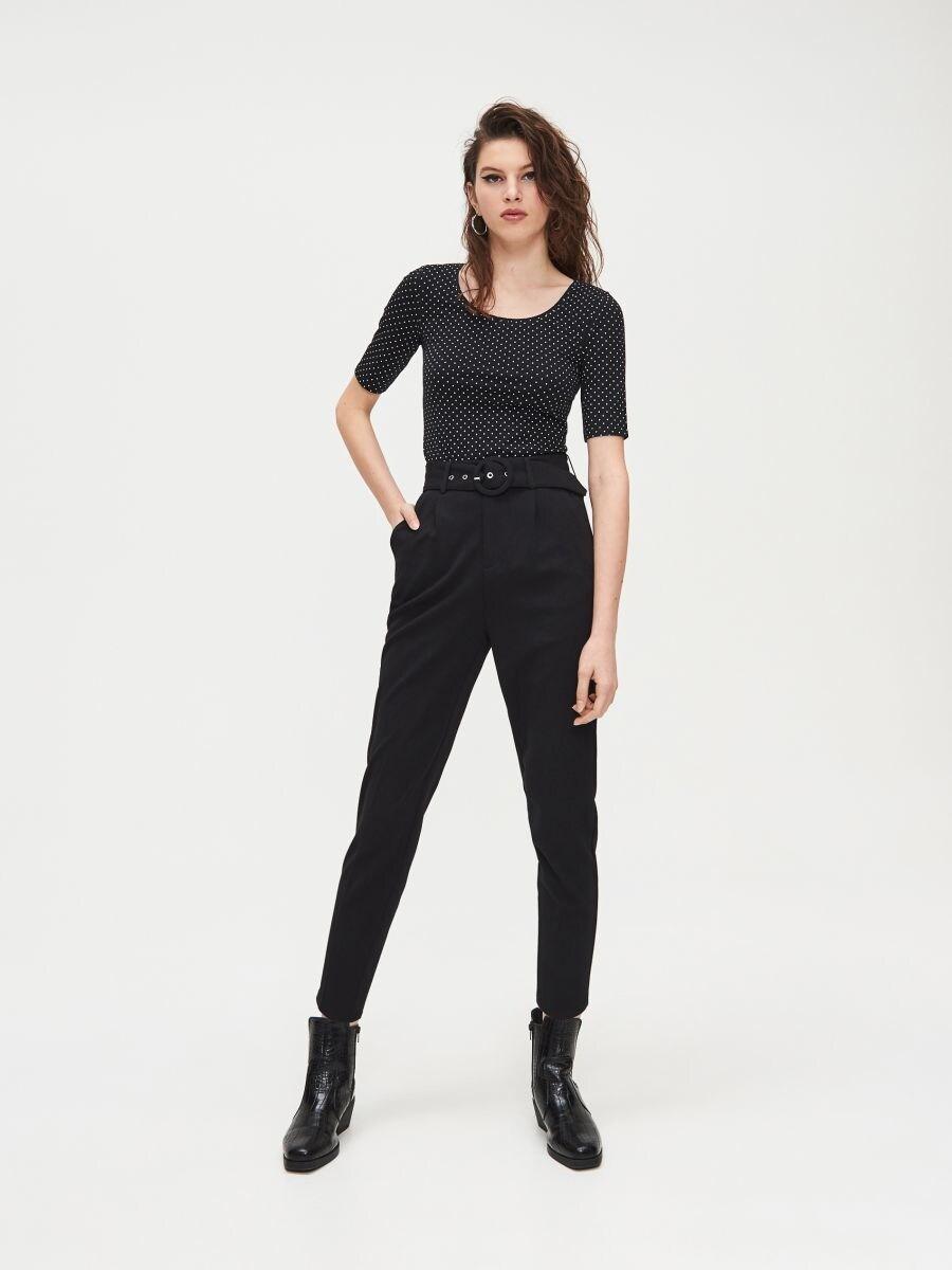 Блуза Basic - черный - XV993-99M - Cropp - 2