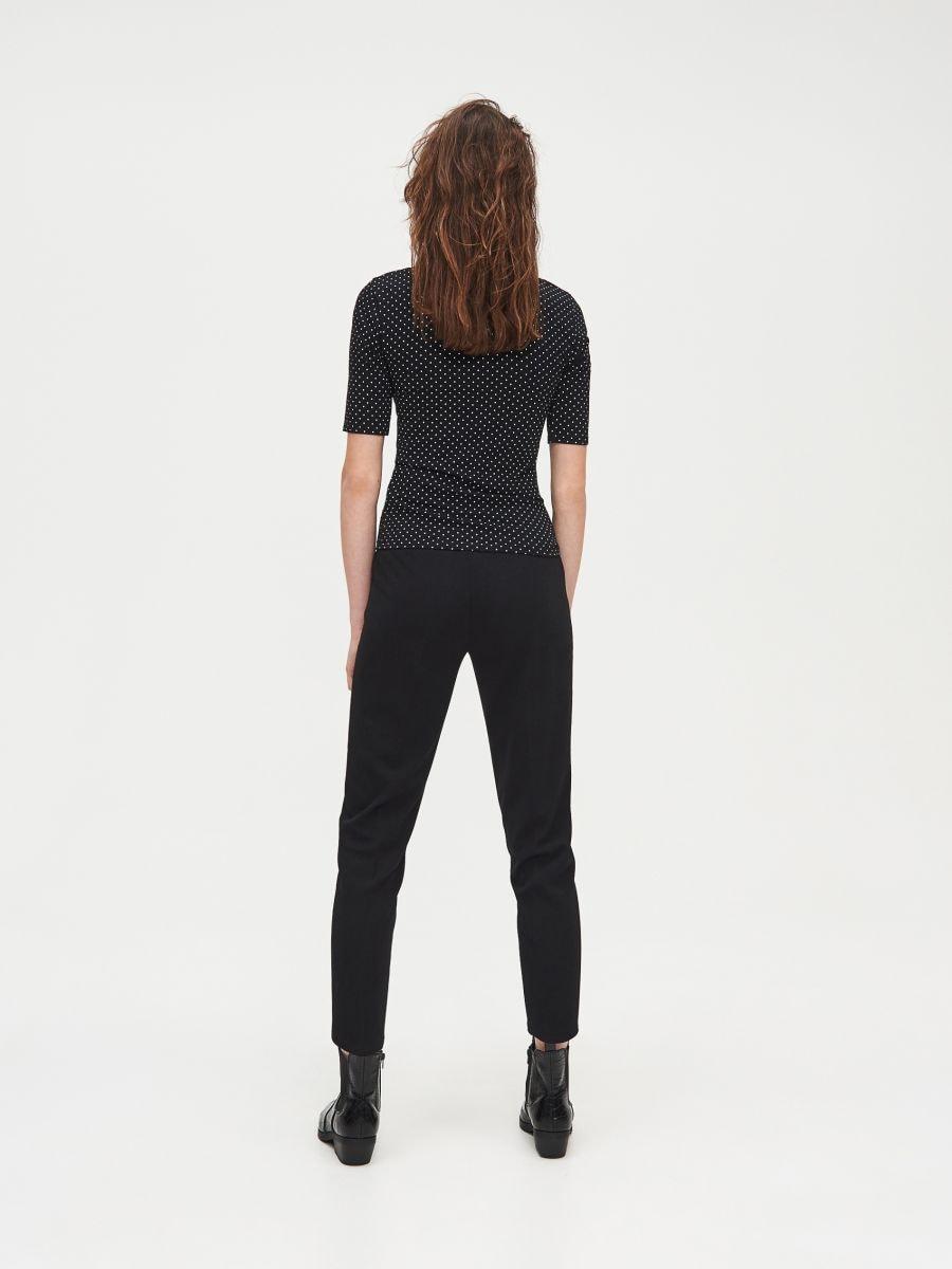 Блуза Basic - черный - XV993-99M - Cropp - 4
