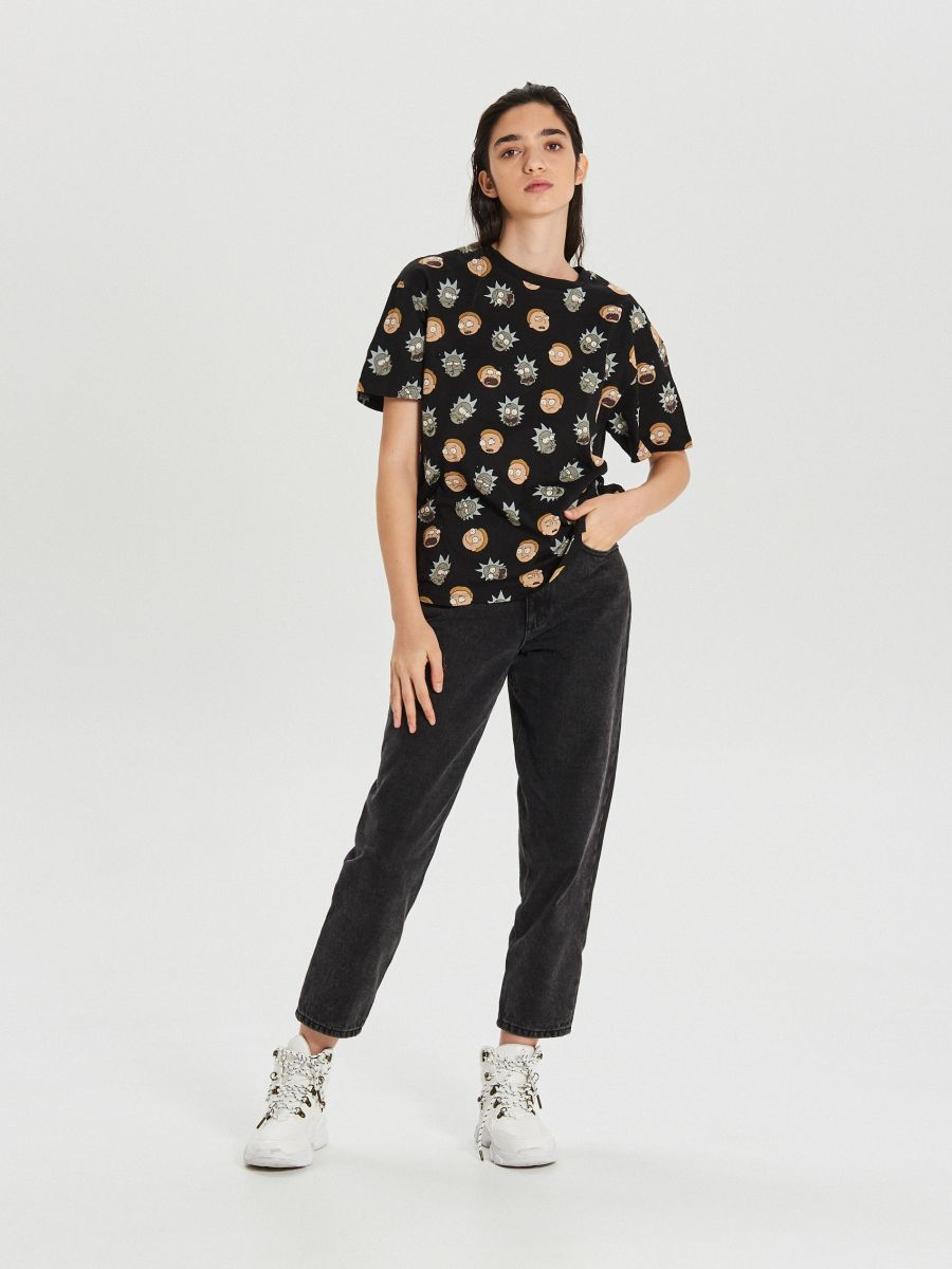 Футболка Rick And Morty - SCHWARZ - YA443-99X - Cropp - 2