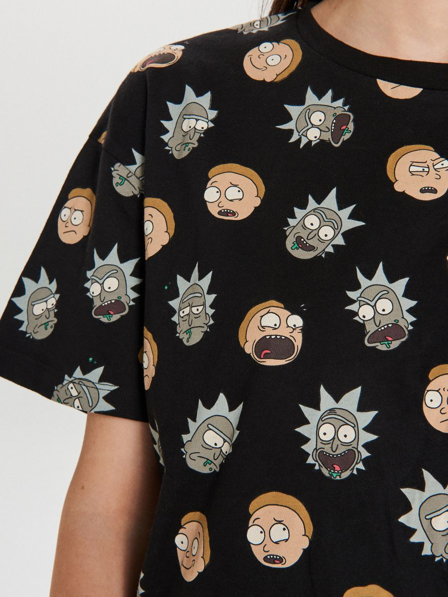 Футболка Rick And Morty - SCHWARZ - YA443-99X - Cropp - 4