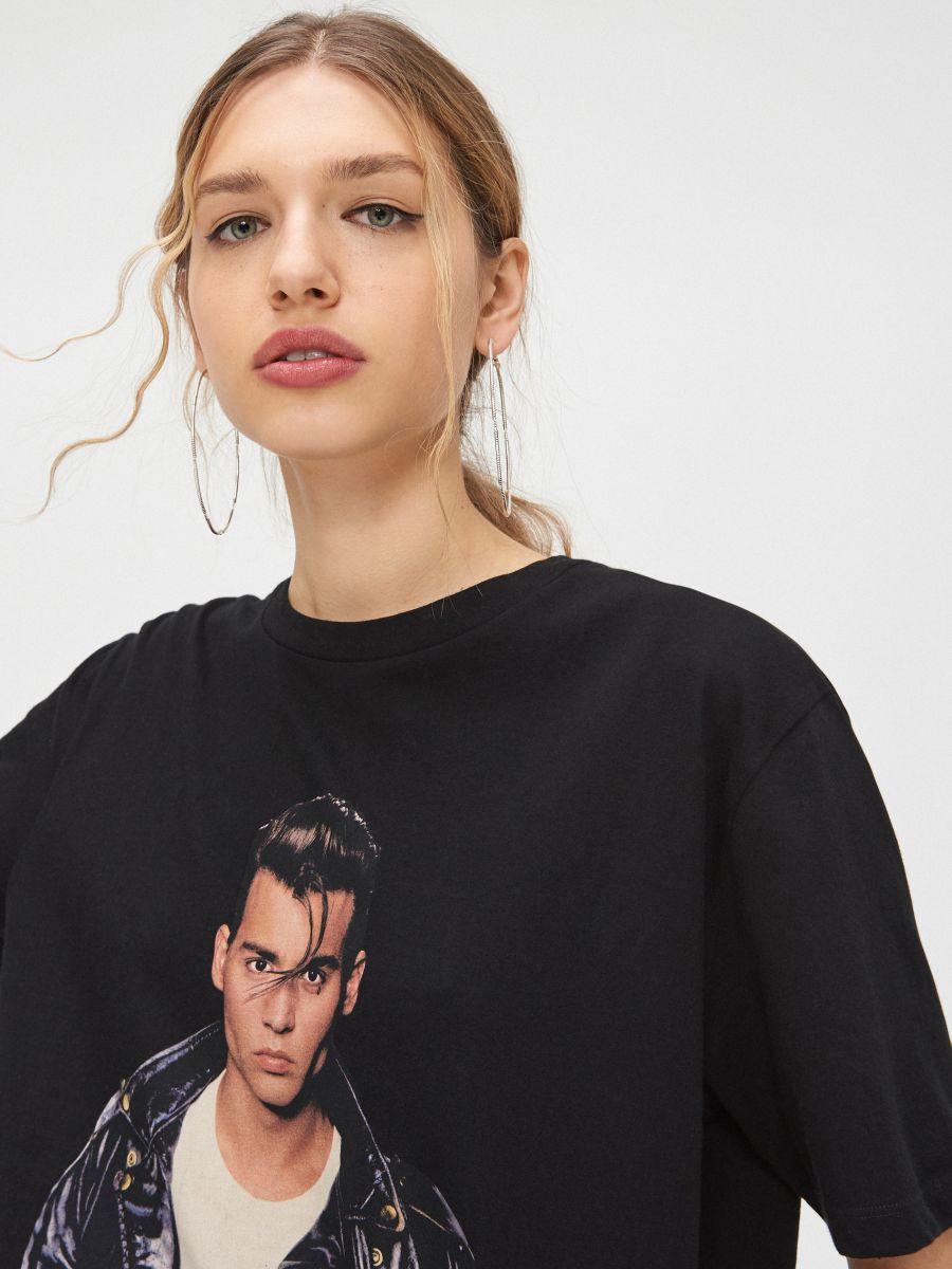 Блуза oversize - черный - YC839-99X - Cropp - 1