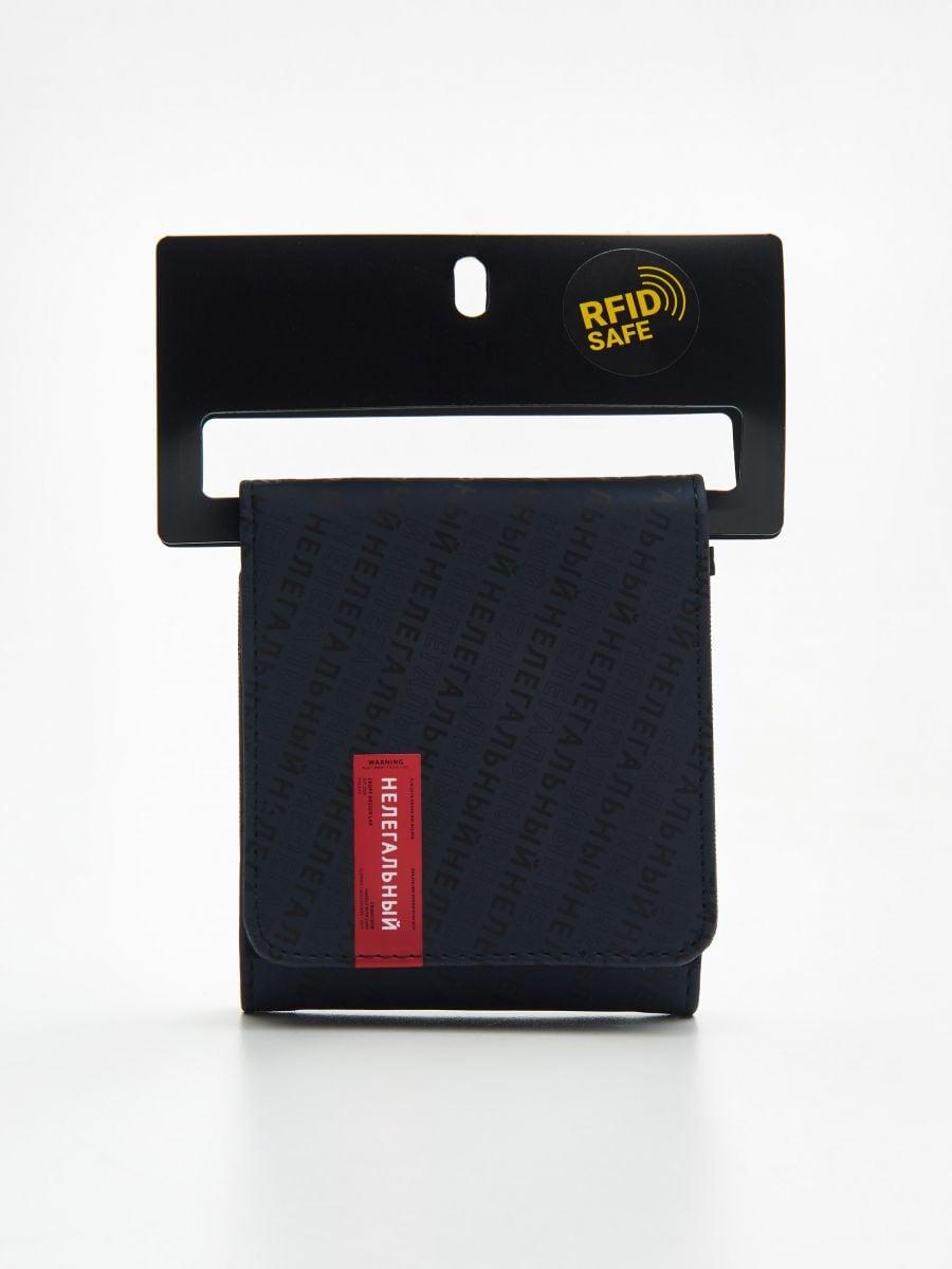 Большой кошелек - темно-синий - ZI155-59X - Cropp - 1