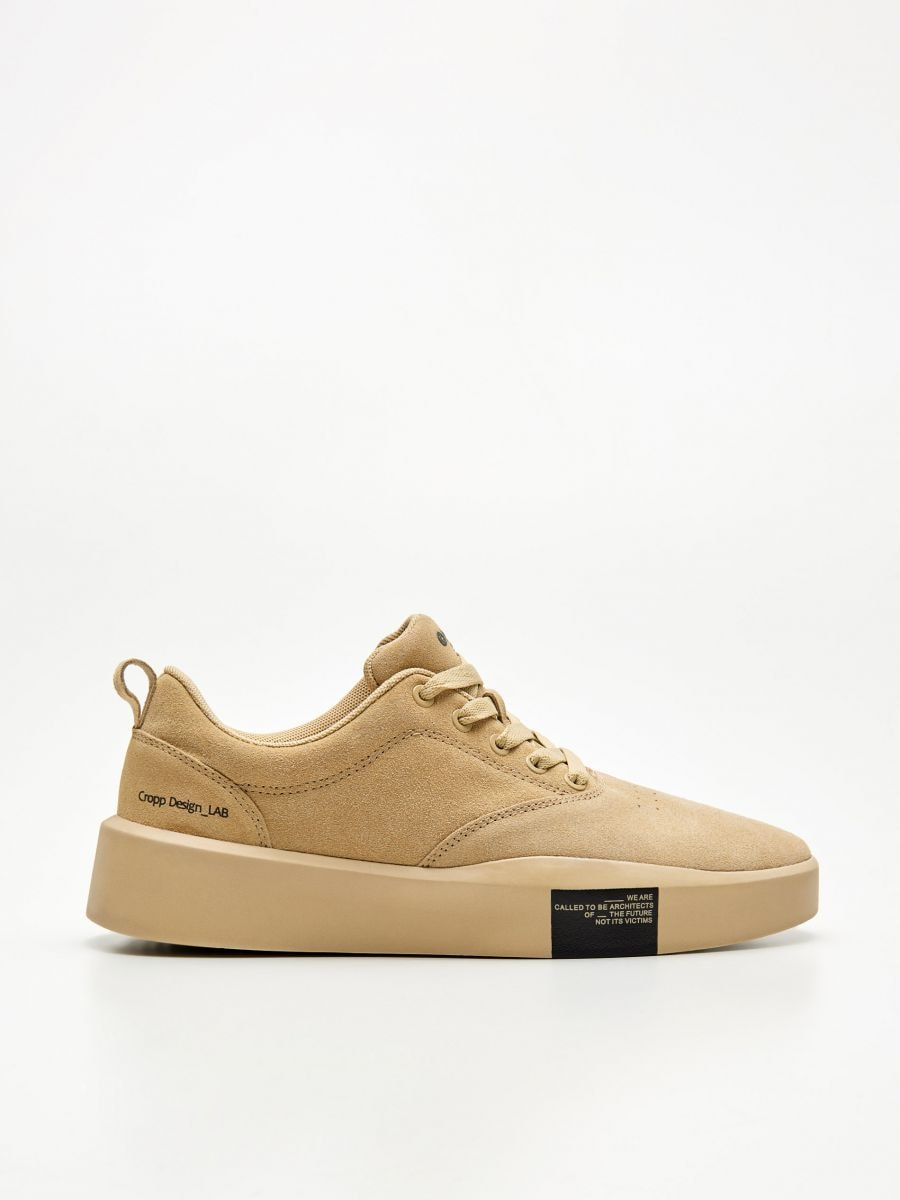 Natural leather sneakers, CROPP, XJ133-80X