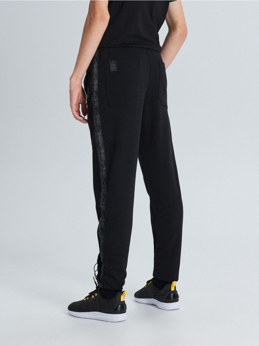 Zateplené teplákové joggery  - Čierna - WB522-99X - Cropp - 4