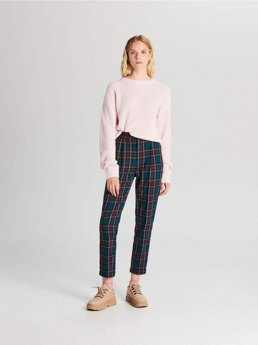 Oversize sveter - Ružová - WB907-03X - Cropp - 2