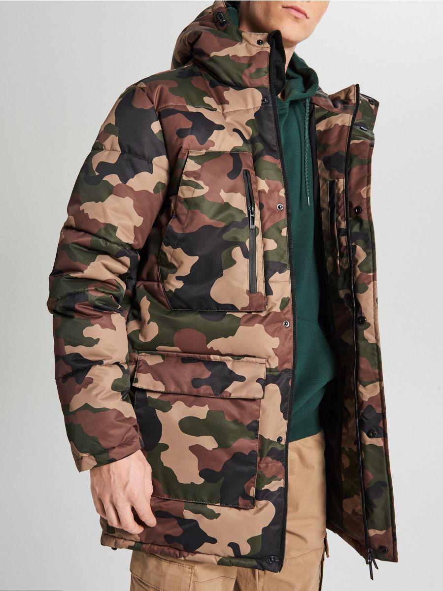 Športový kabát s kapucňou - Khaki - WC151-87X - Cropp - 7
