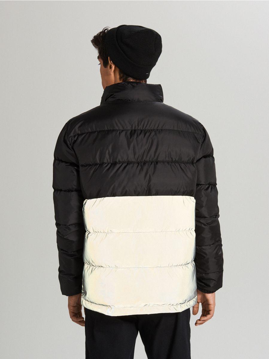 Reflexná prešívaná bunda - Čierna - WC158-99X - Cropp - 4