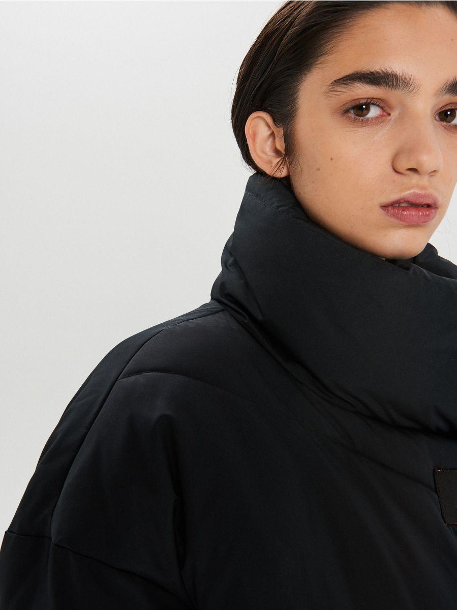 Prešívaná zimná bunda s dodatočnými prackami - Čierna - WG306-99X - Cropp - 4