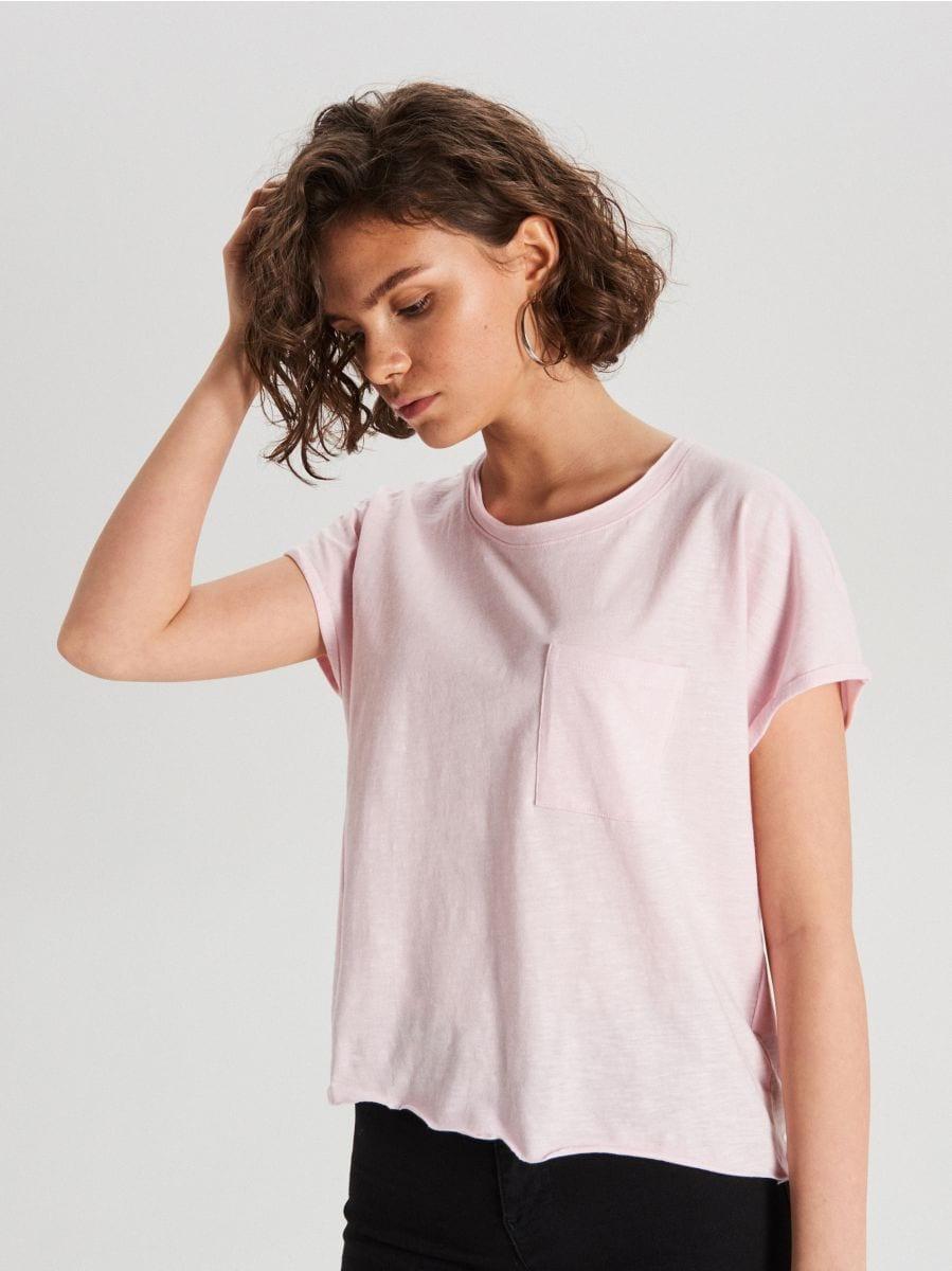Tričko s vreckom - Ružová - WH164-03X - Cropp - 1
