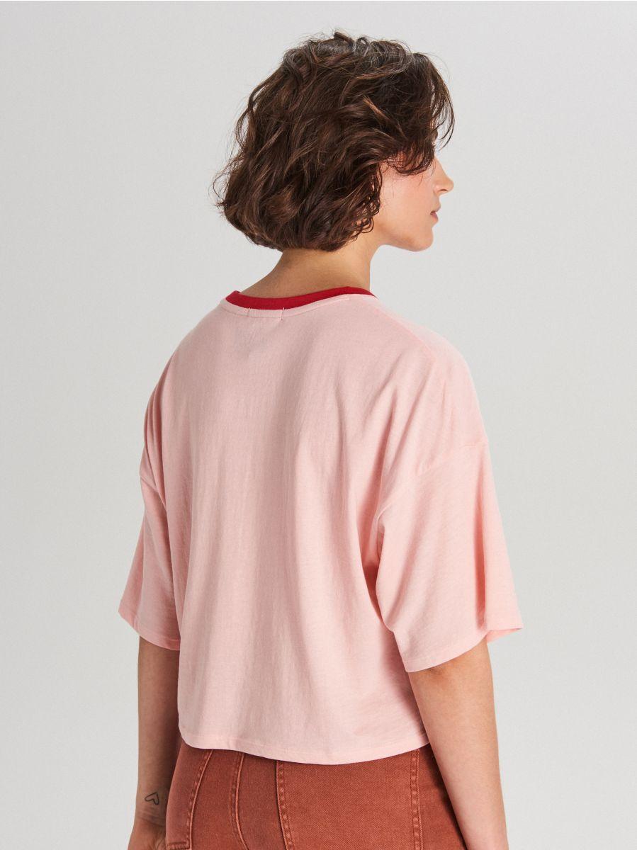 Oversize tričko Good Luck - Ružová - WH708-03X - Cropp - 3