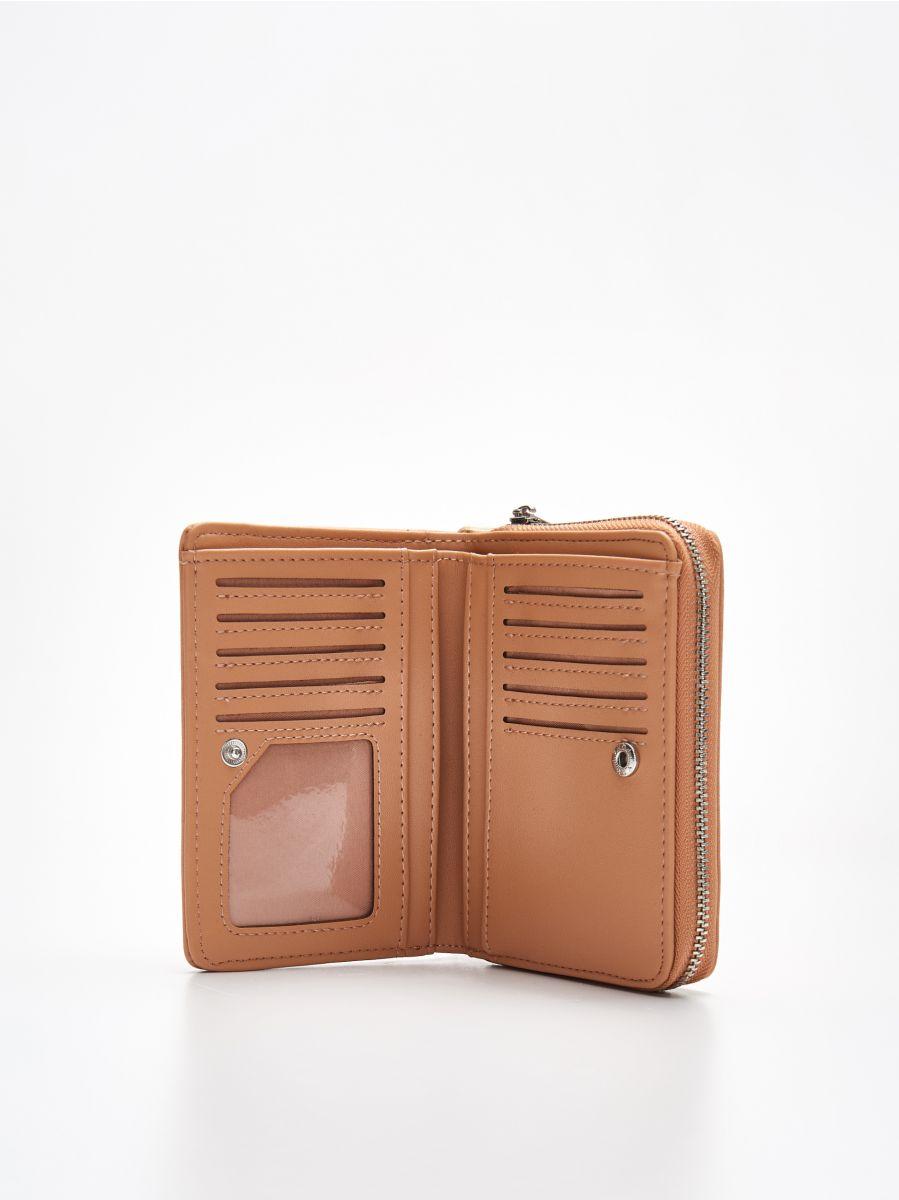 Peňaženka z eko kože - Béžová - WR021-08X - Cropp - 2