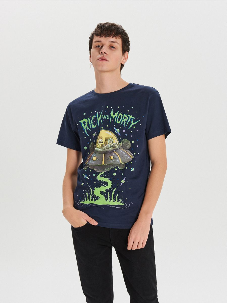 Tričko Rick&Morty - Tmavomodrá - XH468-59X - Cropp - 1