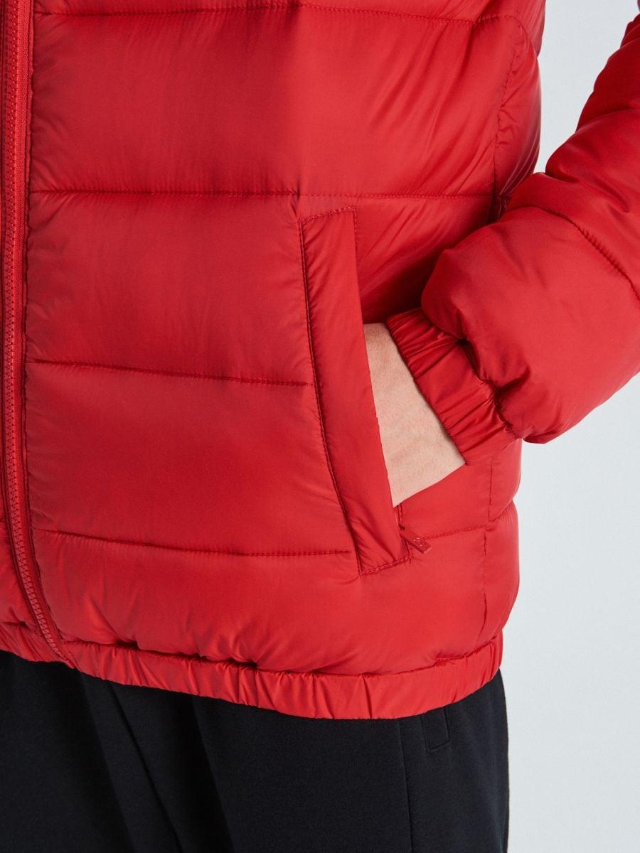 Prešívaná bunda - Červená - VB156-33X - Cropp - 4