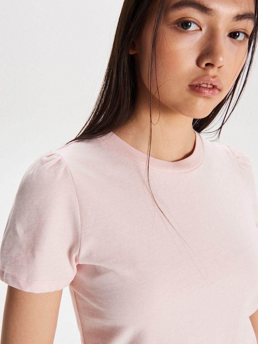 Tričko basic - Ružová - VY903-03X - Cropp - 2