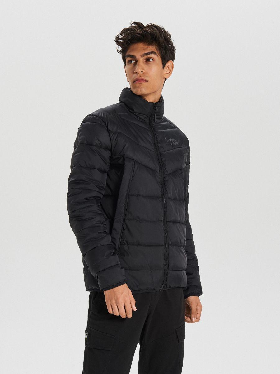 Prešívaná zimná bunda - Čierna - WA079-99X - Cropp - 3