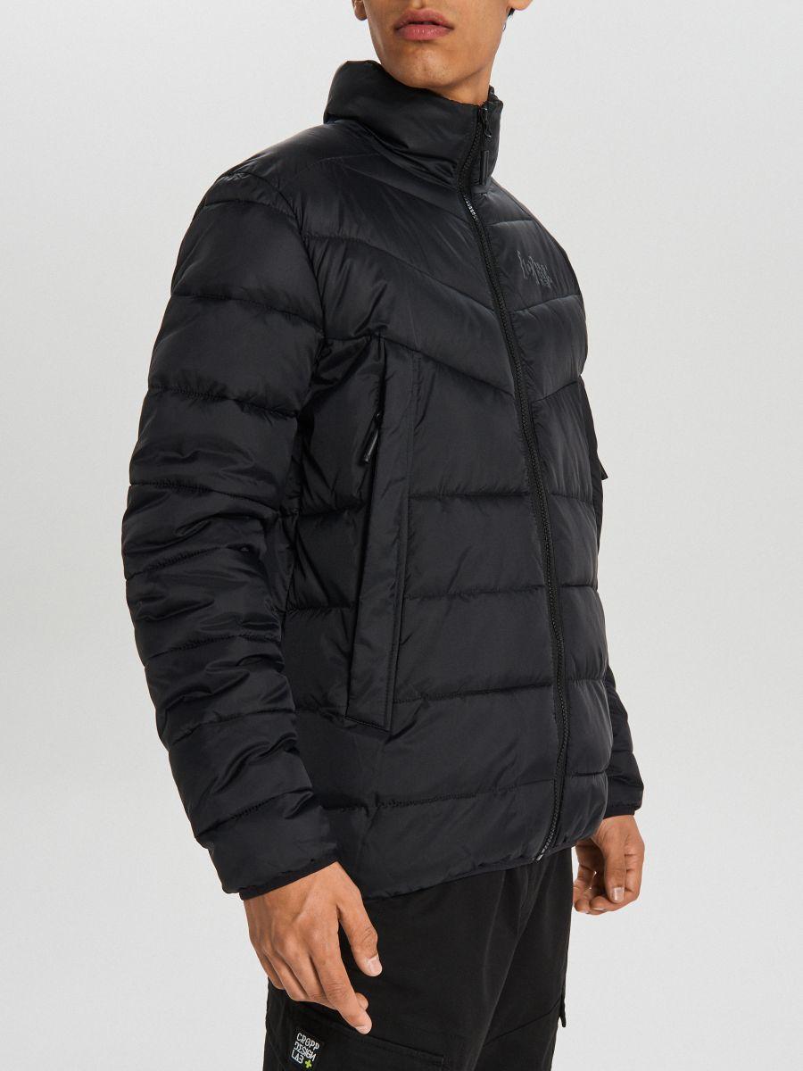 Prešívaná zimná bunda - Čierna - WA079-99X - Cropp - 5