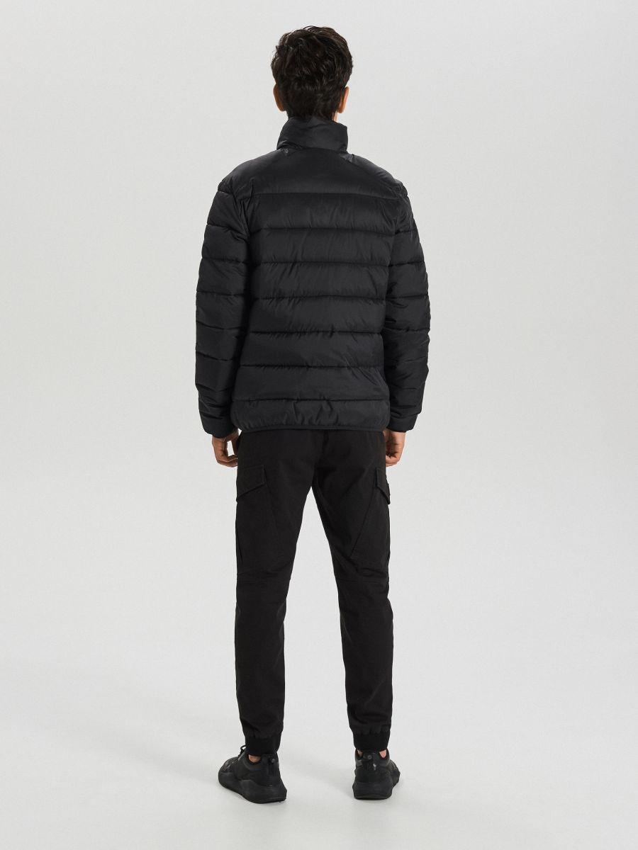 Prešívaná zimná bunda - Čierna - WA079-99X - Cropp - 6