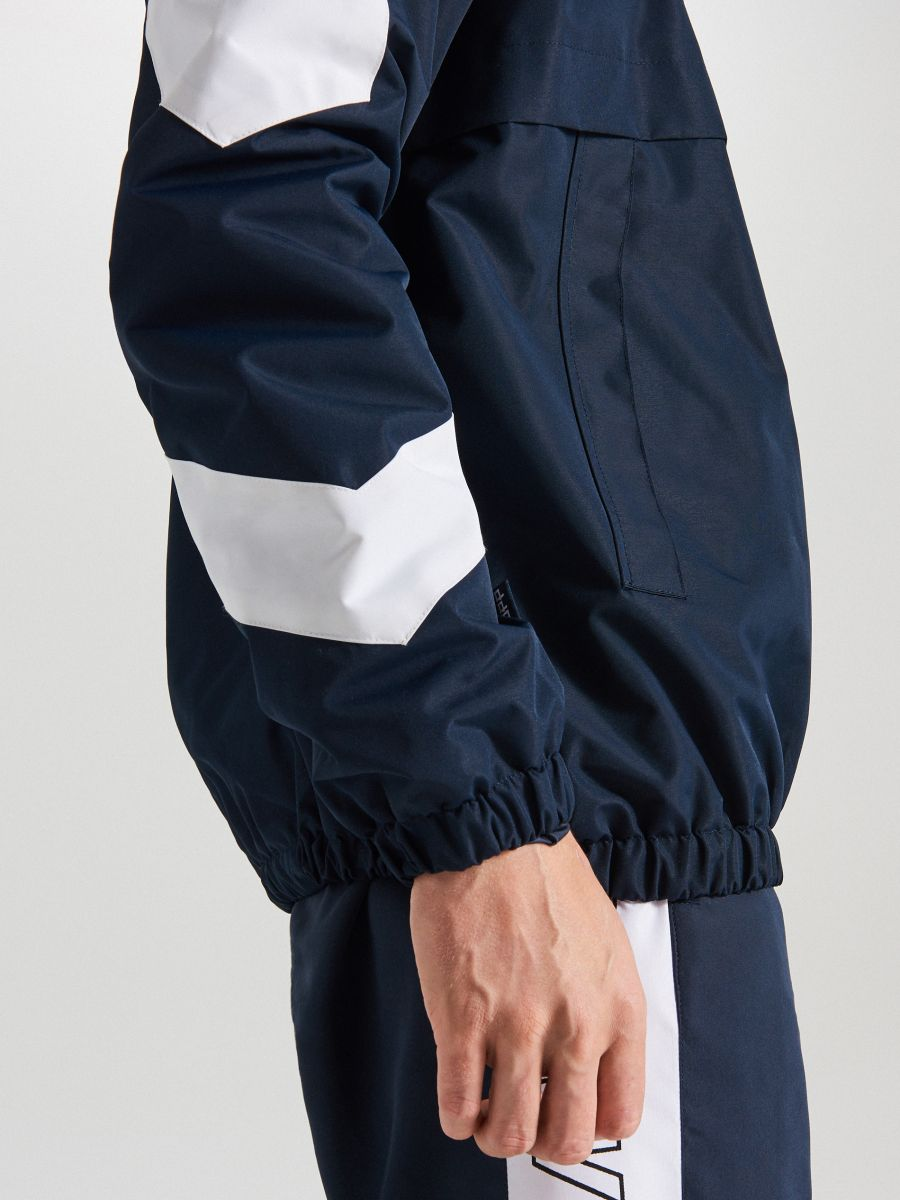 Športová bunda s kapucňou - Tmavomodrá - WA081-59X - Cropp - 4