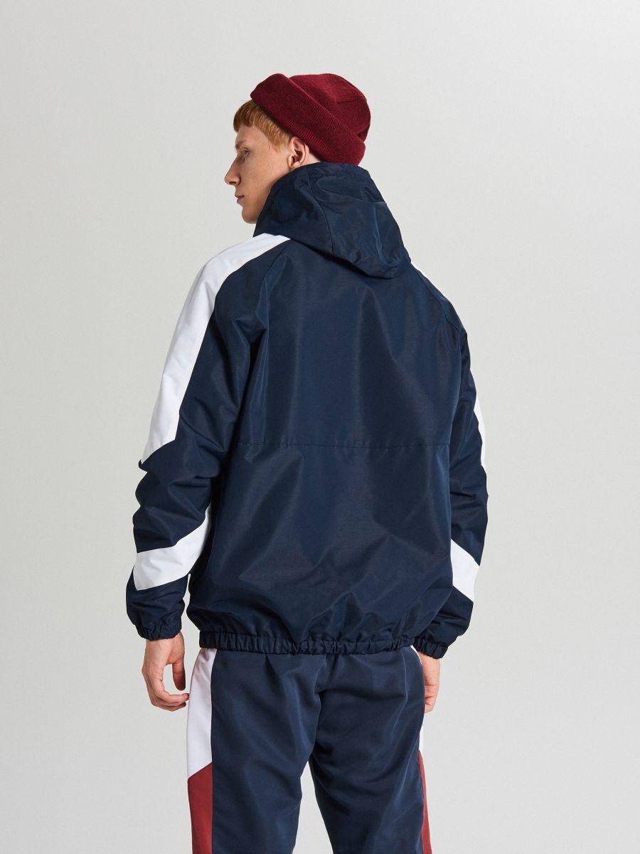 Športová bunda s kapucňou - Tmavomodrá - WA081-59X - Cropp - 6