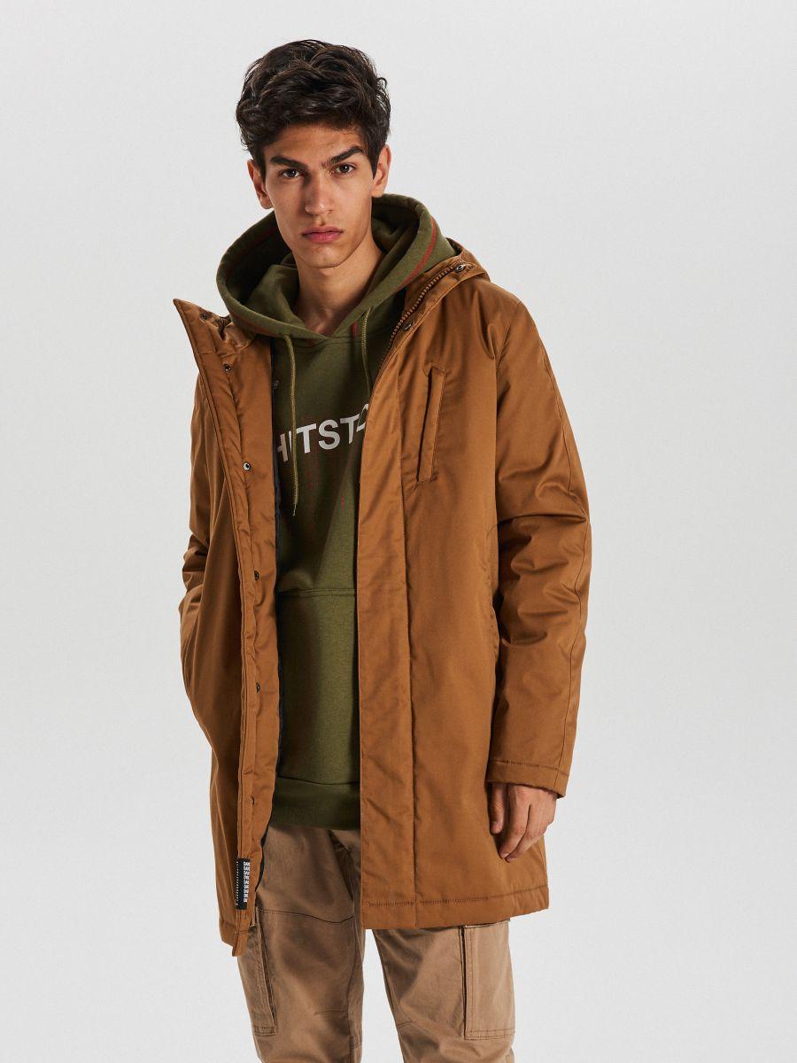 Športový kabát s kapucňou - Béžová - WA095-80X - Cropp - 1