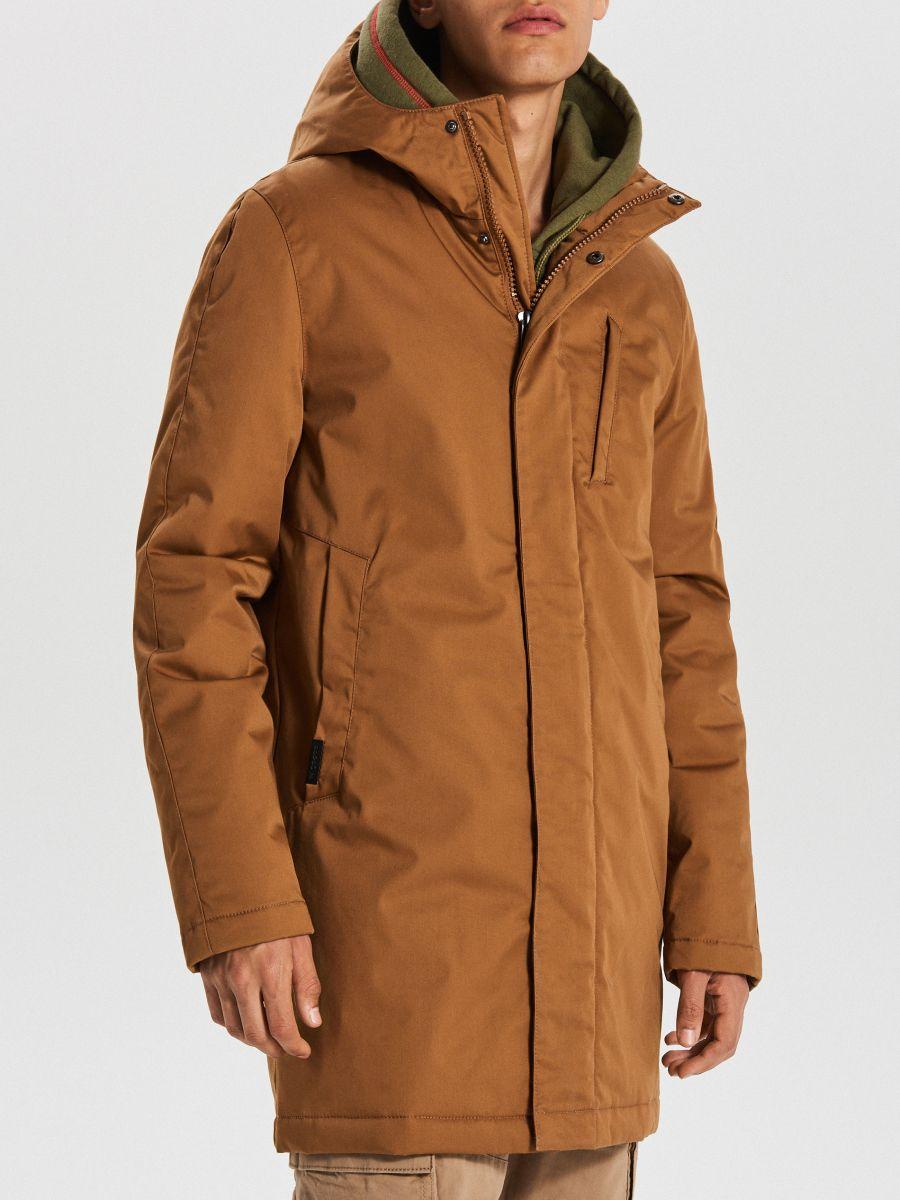 Športový kabát s kapucňou - Béžová - WA095-80X - Cropp - 4