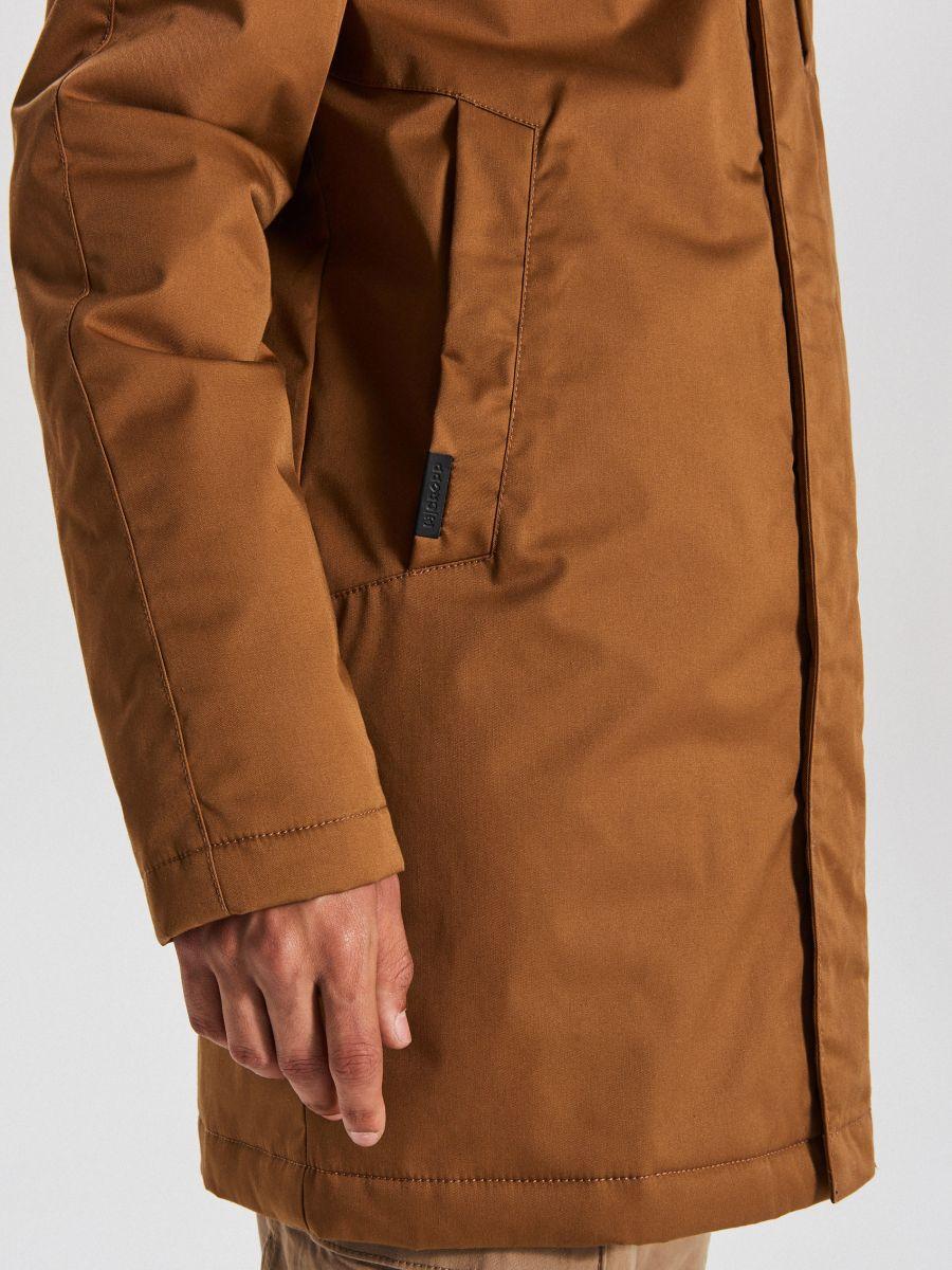 Športový kabát s kapucňou - Béžová - WA095-80X - Cropp - 5