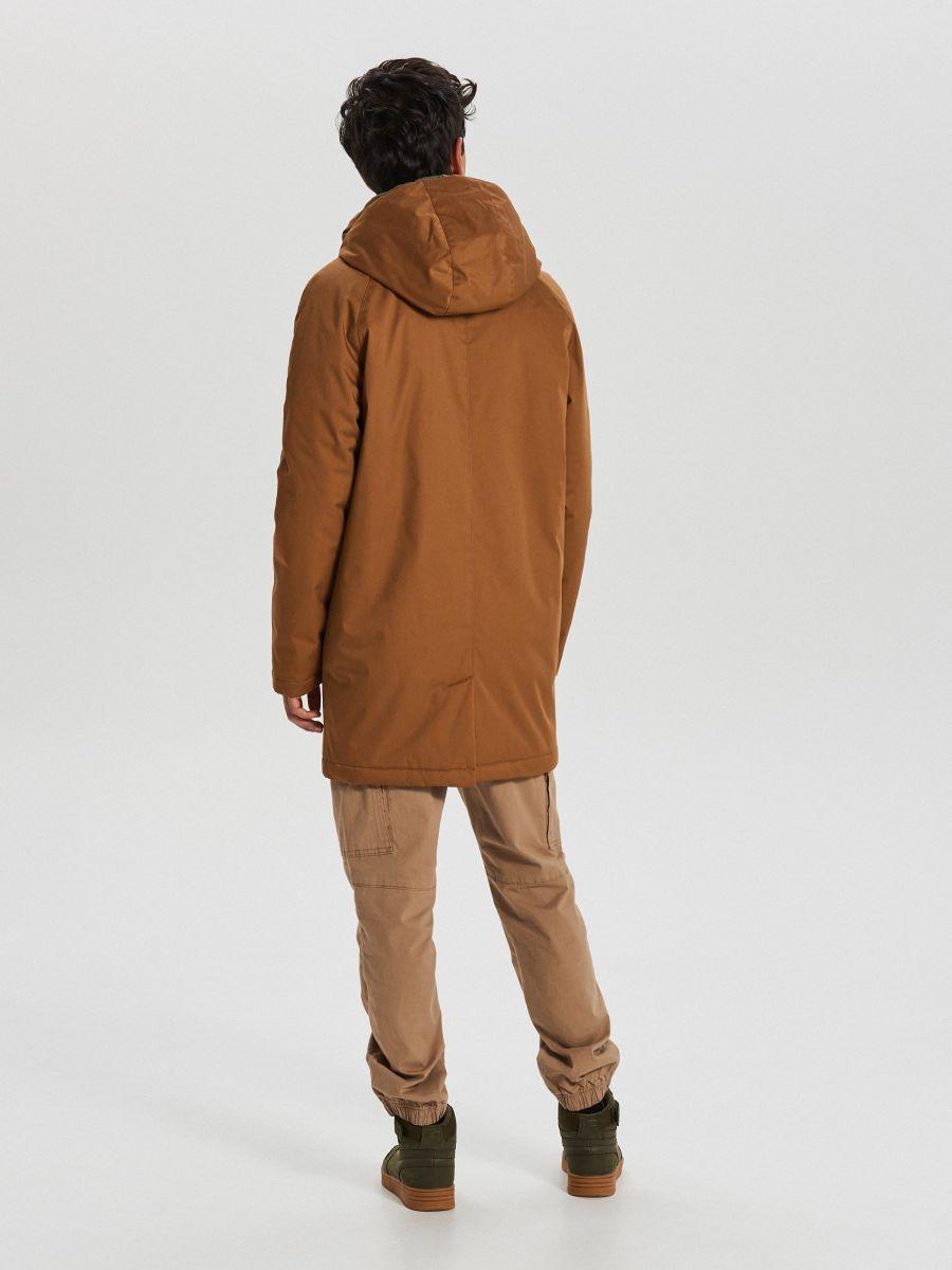Športový kabát s kapucňou - Béžová - WA095-80X - Cropp - 6