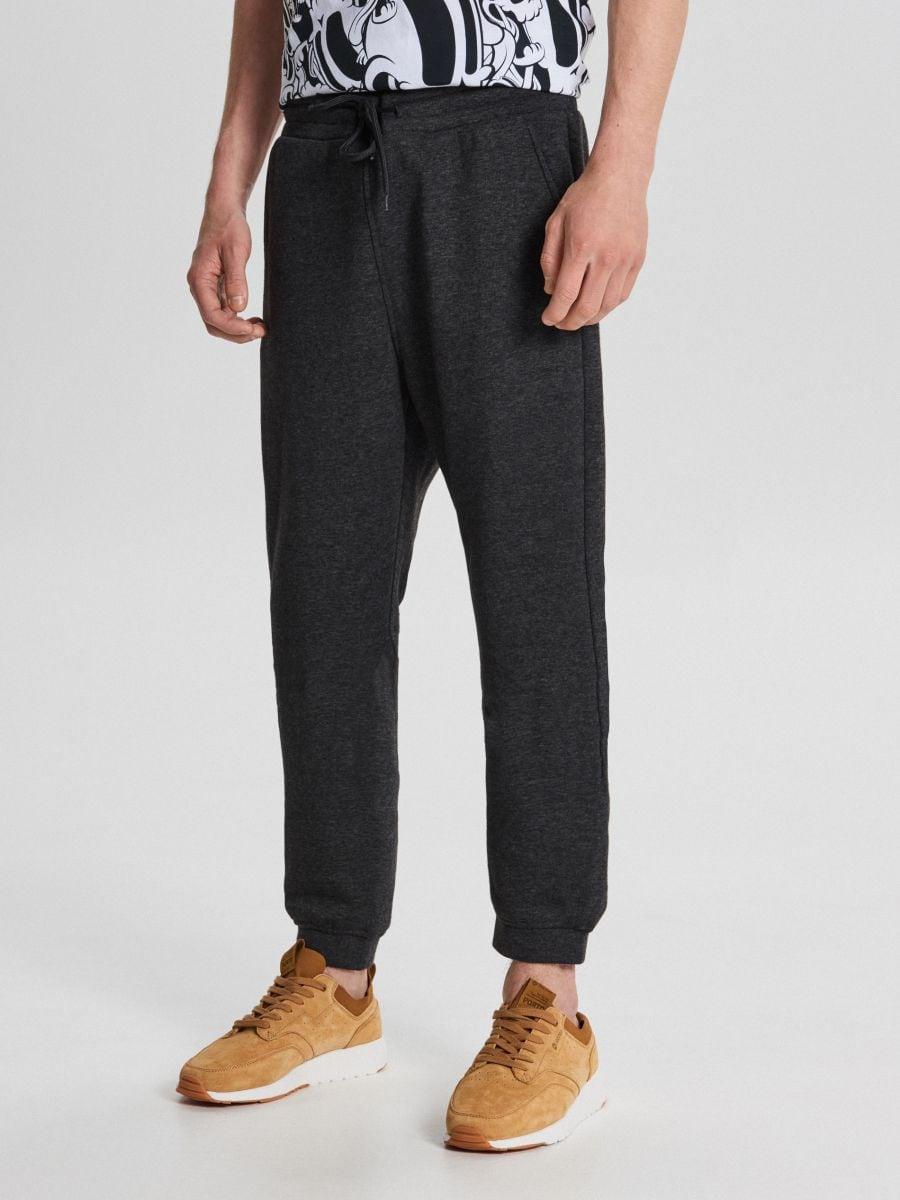 Teplákové basic nohavice - Čierna - WB520-99M - Cropp - 2