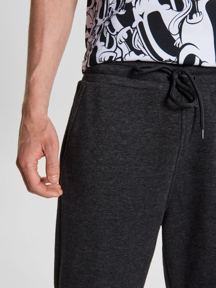 Teplákové basic nohavice - Čierna - WB520-99M - Cropp - 3