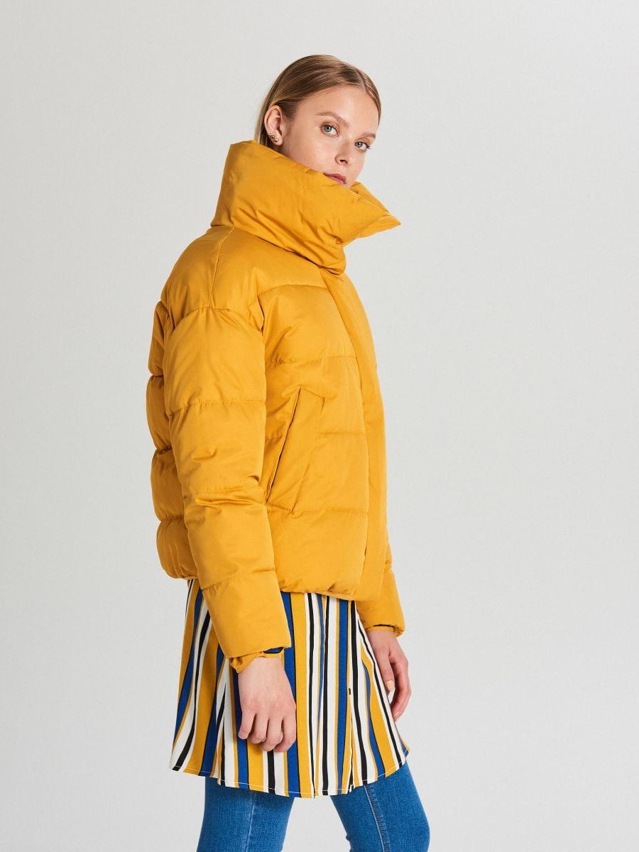 Pufovaná bunda - Žltá - WB866-17X - Cropp - 1