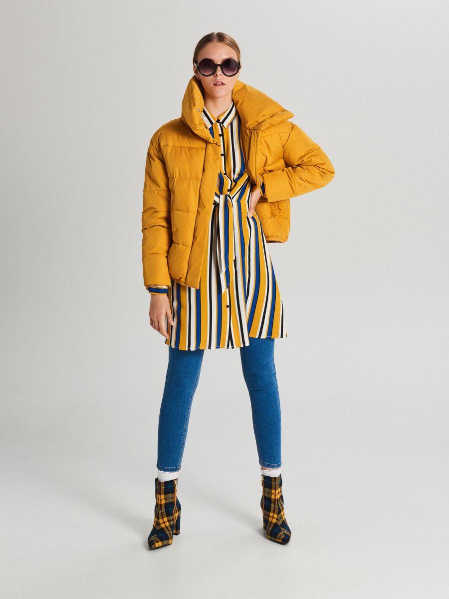 Pufovaná bunda - Žltá - WB866-17X - Cropp - 2