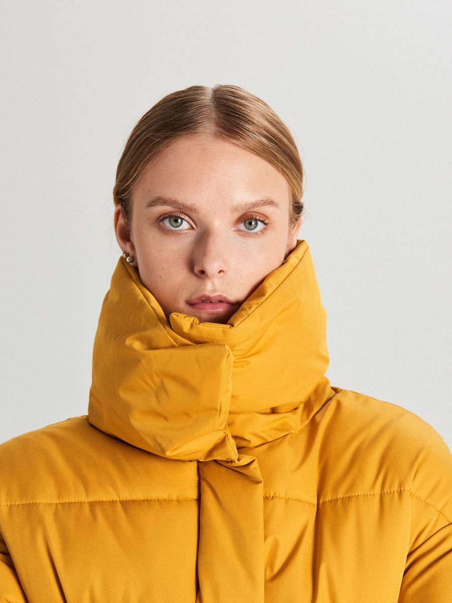 Pufovaná bunda - Žltá - WB866-17X - Cropp - 5