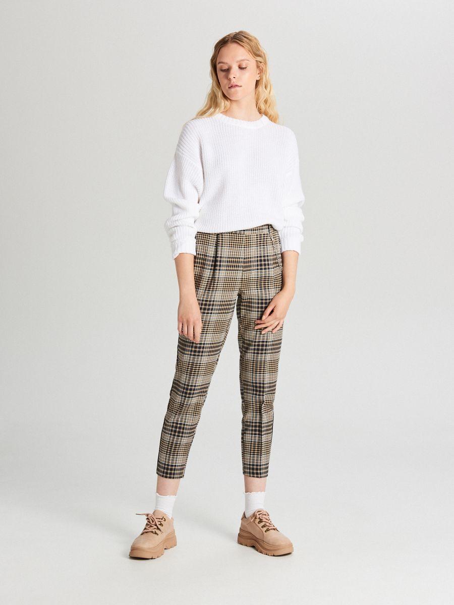 Oversize sveter - Biela - WB907-00X - Cropp - 2