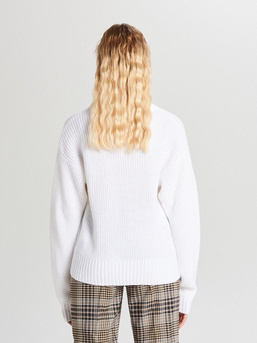 Oversize sveter - Biela - WB907-00X - Cropp - 5