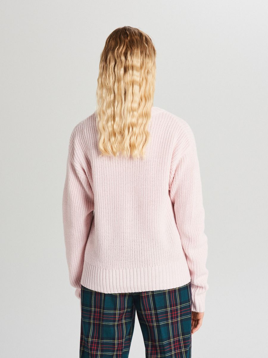 Oversize sveter - Ružová - WB907-03X - Cropp - 3