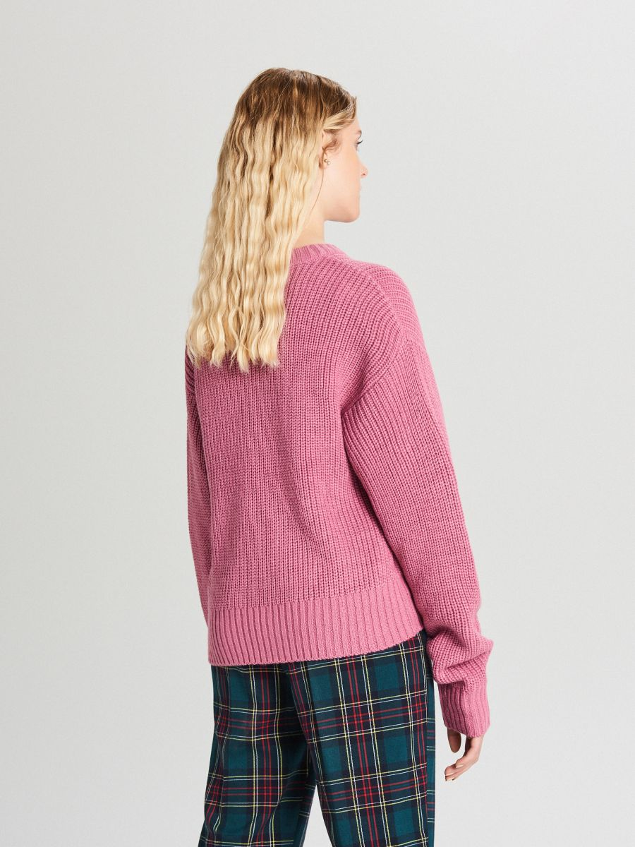 Oversize sveter - Purpurová - WB907-34X - Cropp - 3