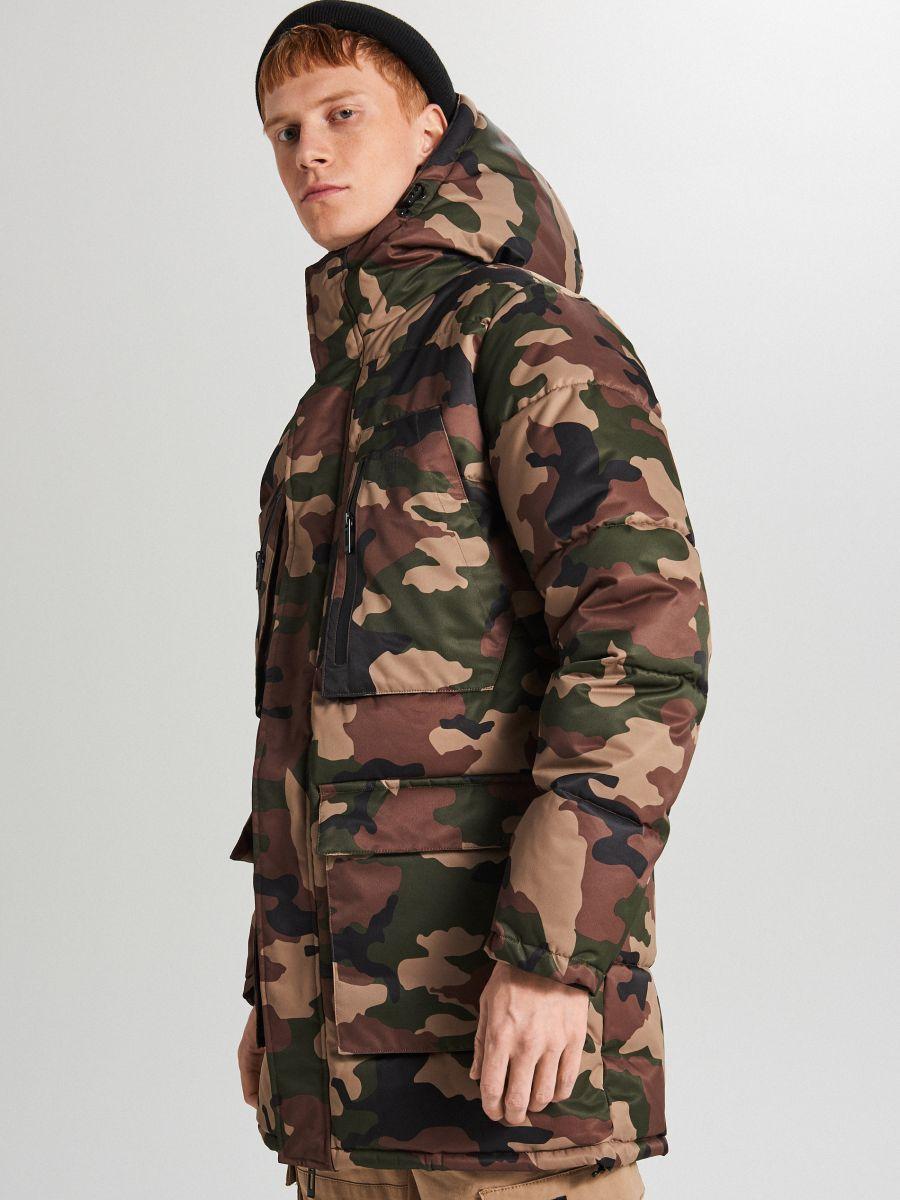 Športový kabát s kapucňou - Khaki - WC151-87X - Cropp - 2