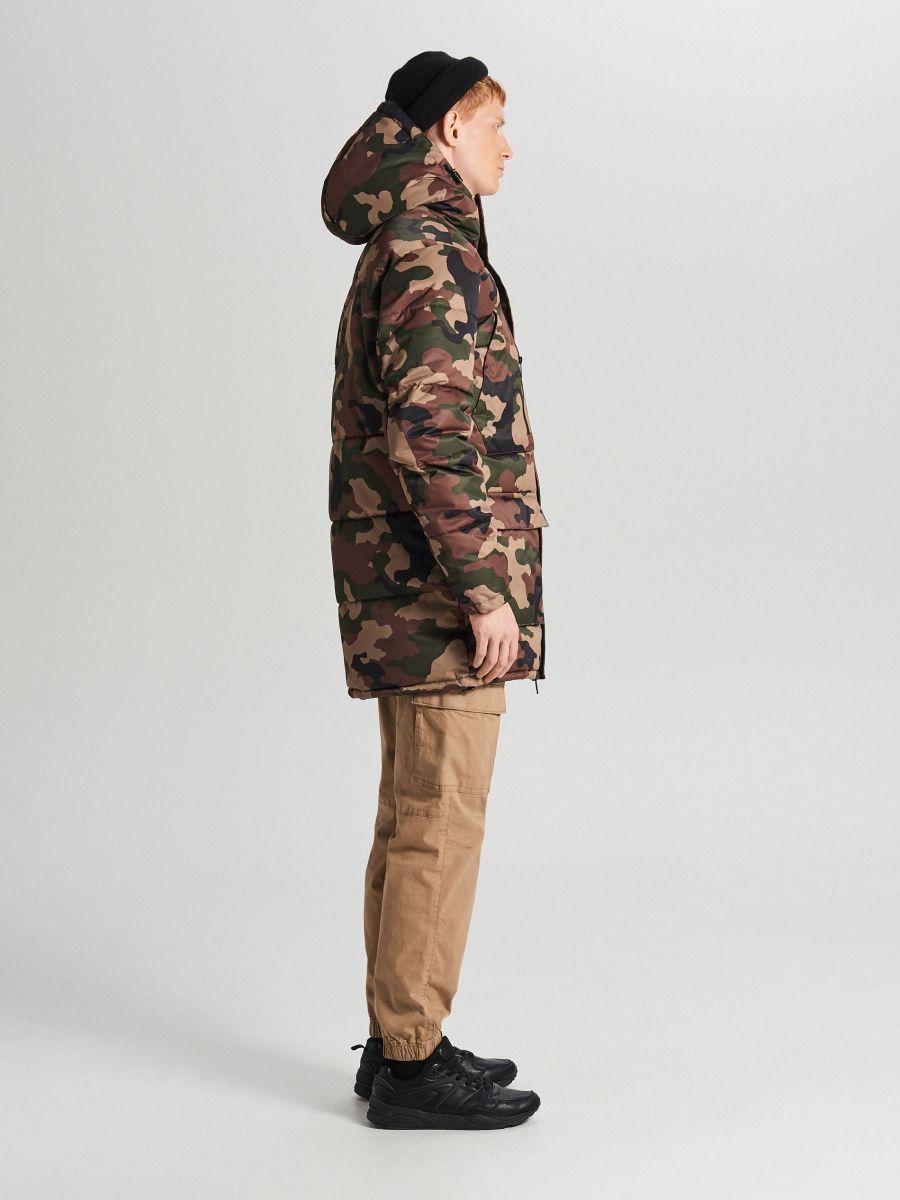Športový kabát s kapucňou - Khaki - WC151-87X - Cropp - 3