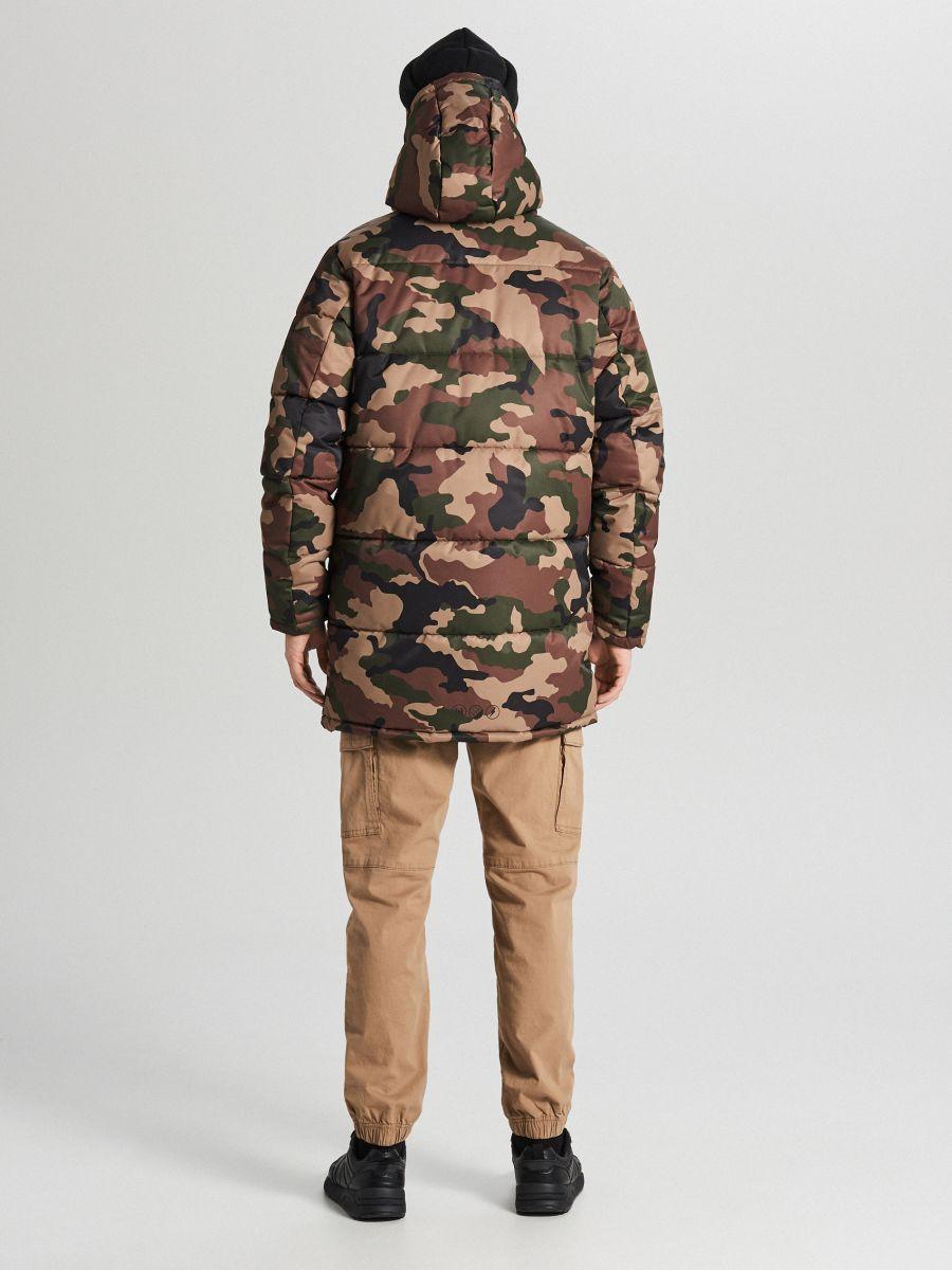 Športový kabát s kapucňou - Khaki - WC151-87X - Cropp - 6
