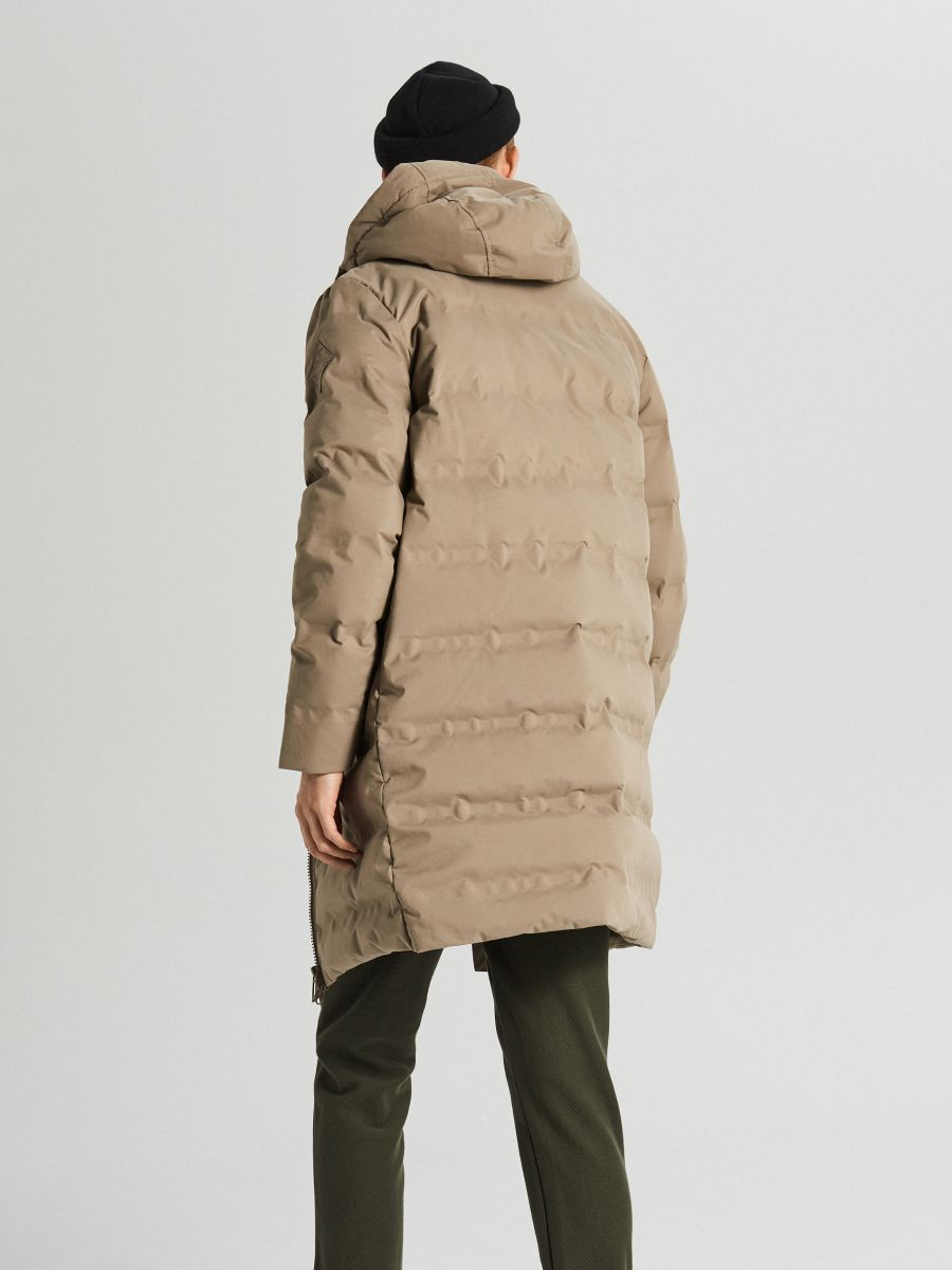 Páperový kabát s kapucňou - Béžová - WC154-08X - Cropp - 6