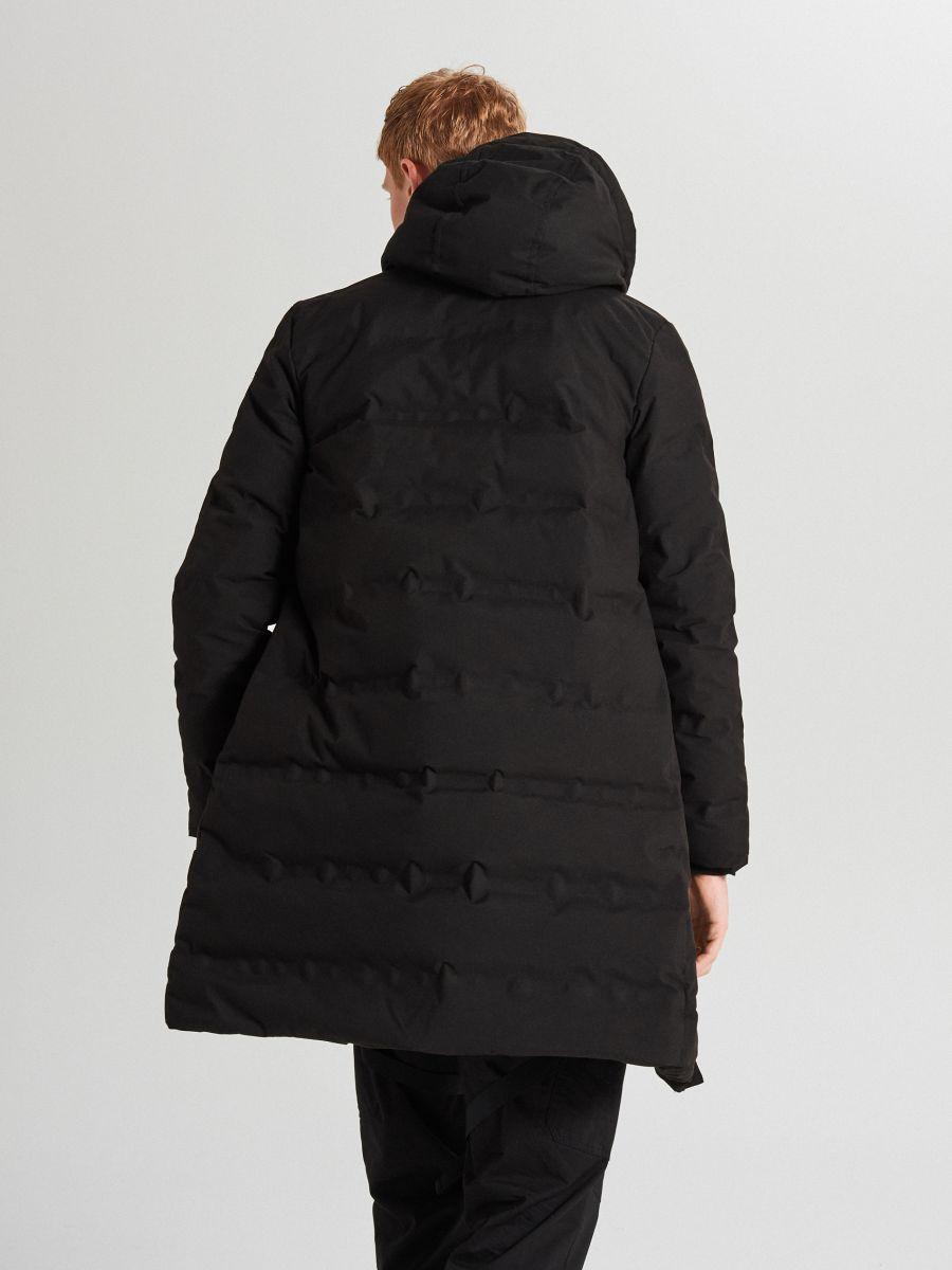 Páperový kabát s kapucňou - Čierna - WC154-99X - Cropp - 6