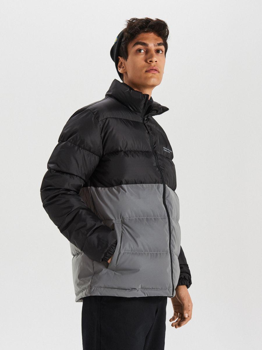 Reflexná prešívaná bunda - Čierna - WC158-99X - Cropp - 1