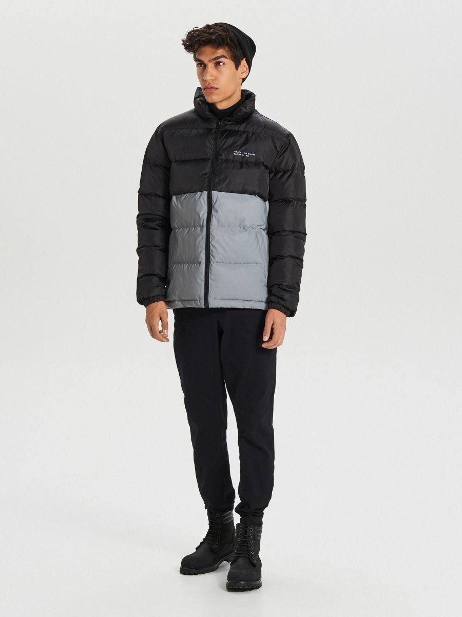Reflexná prešívaná bunda - Čierna - WC158-99X - Cropp - 2
