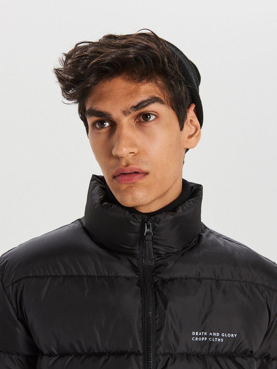 Reflexná prešívaná bunda - Čierna - WC158-99X - Cropp - 3
