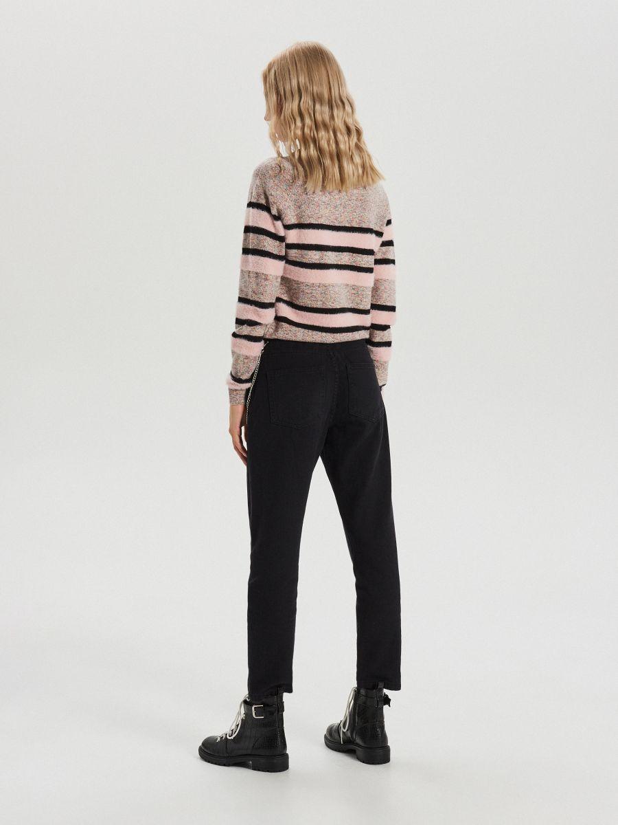 Melanžový pásikavý sveter - Ružová - WC879-03X - Cropp - 5